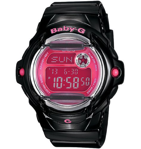 Baby-G Watch, Women's Black Resin Strap BG169R-1B