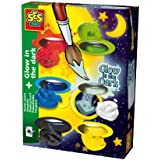SES Creative Childrens Glow In The Dark Poster Paint, Set Of 6 Colors