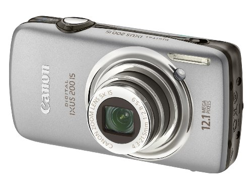 Canon Digital IXUS 200 IS Digital Camera - Silver (12.1 Megapixel, 5x Optical Zoom) 3.0 inch LCD