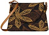 Snoogg seamless texture with flowers and butterflies endless floral pattern Womens Carry Around Sling Bags