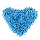 2pcs Reusable Washable Coral Replacement Microfiber Pad for H2O Steam Mop Blue