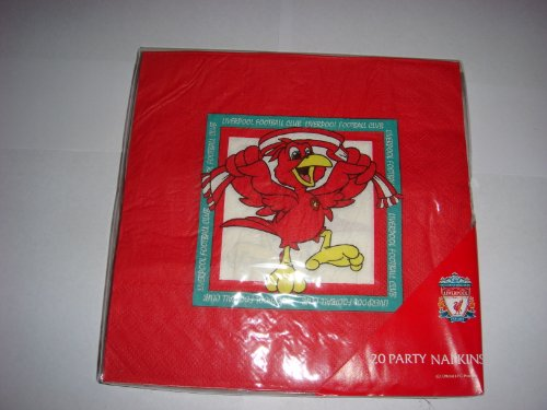 OFFICIAL LIVERPOOL F.C CRESTED PARTY NAPKINS 20 PACK