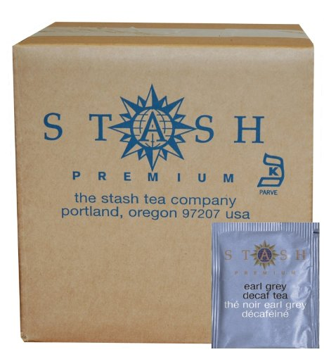 Stash Tea Decaf Earl Grey Tea, 100 Count Box Of Tea Bags In Foil