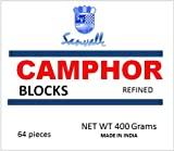 Box of Camphor 16 Blocks - 64 Tablets Premium High Quality Refined Camphor Sanvall - No Residue - Bed Bug - Tool Tarnish - Congestion