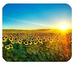 Nature Sunflowers field Sunrise Sunshine blue sky Customized Rectangle Mousepad