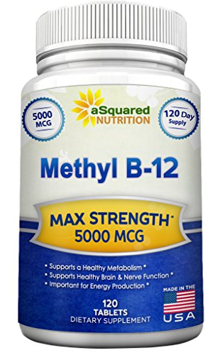 Vitamin-B12-5000-MCG-Supplement-with-Methylcobalamin-Methyl-B-12-Max-Strength-Vitamin-B-12-Support-to-Help-Boost-Natural-Energy-Metabolism-Benefit-Brain-Heart-Function-120-Tablets
