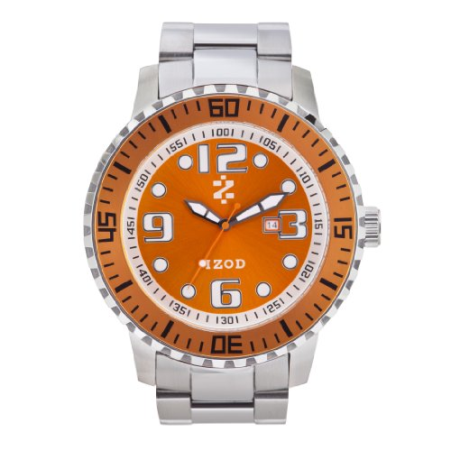 IZOD Men's IZS5/7 ORANGE Sport Quartz 3 Hand Watch