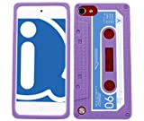 ITALKonline SoftSkin CASSETTE TAPE RETRO PURPLE Super Hydro Silicone Protective Armour/Case/Skin/Cover/Shell for Apple iPod Touch 5 5G (5th Generation) 8GB, 32GB, 64GB