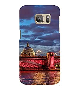PrintVisa Rome Building Design 3D Hard Polycarbonate Designer Back Case Cover for Samsung Galaxy S7