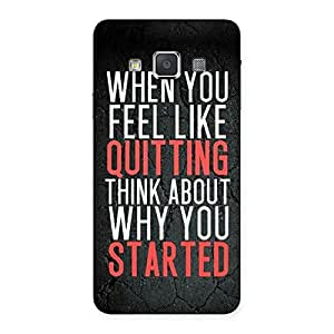 AJAY ENTERPRISES Extant Why You Start Back Case Cover for Galaxy A3