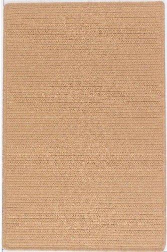 Wilshire Rectangular Braid Texture Area Rug, 3' SQUARE SERGE, EVERGOLD