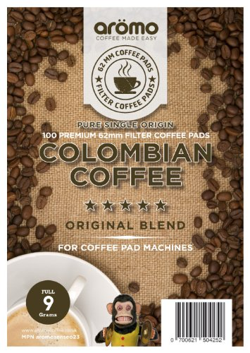 Shop for COLOMBIAN Senseo compatible Coffee pods - aromo