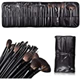 niceeshop(TM) 32 Pcs Professional Cosmetic Makeup Brush Set Kit with Synthetic Leather Case,Black With Accessory Cable Tie