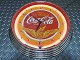 ●COCA-COLA コカ・コーラ●正規オフィシャルライセンス品●レトロ ウイング スタイル 15インチ ネオンクロック●Retro Wings Style Neon Clock●ネオン管 掛時計●U S 海 外 仕 様