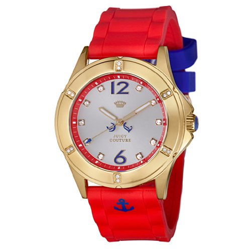 Juicy Couture Women's 1900999 Rich Girl Nautical Red Silicone Strap Watch