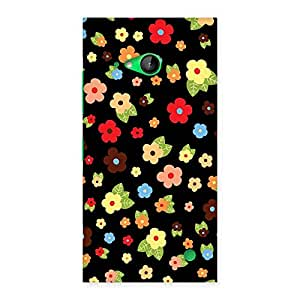 Cute Multicolor in Black Back Case Cover for Lumia 730