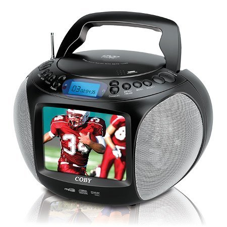 Coby TFDVD577 5.6-Inch TFT Portable DVD/MP3/CD Player and ATSC/NTSC TV Tuner (Black)