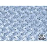 Minky Rosebud LIGHT BLUE Fabric By the Yard