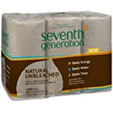 Seventh Generation Unbleached Paper Towels Roll, 6 Count (Pack of 4)