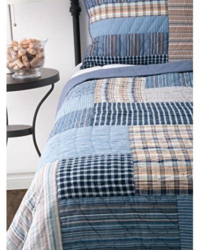 Rizzy Home Blue Gracen 3-Piece Quilt Set