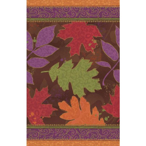 plastic table cover 54 inches x 102 inches fall forward - 1