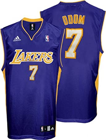 4eed14aa2 Lamar Odom Jersey adidas Purple Replica 7 Los Angeles Lakers Jersey NBA ...