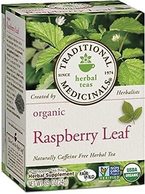 Traditional Medicinals Organic Raspberry Leaf Tea, 16 Tea Bags