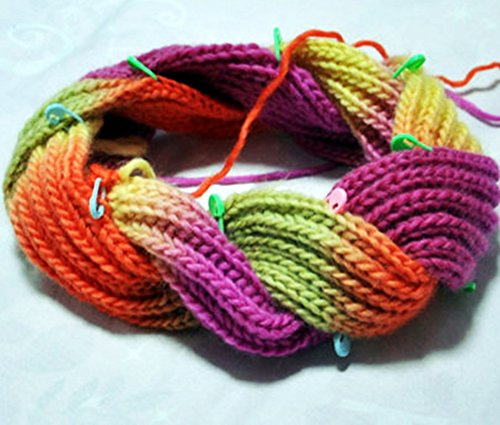 TKmell 100PC Mix Color Knitting Stitch Counter Crochet Locking Stitch Markers...
