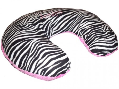 New Nursing Pillow Cover, Replacement Cover, Slip Cover- Zebra & Hot Pink Minky!