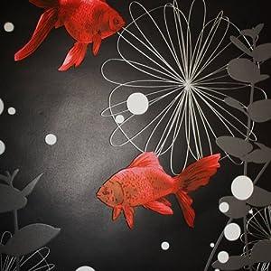 Rasch 817508 papier peint en relief motif poisson rouge for Deco poisson rouge