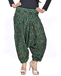 Soundarya Women's Regular Fit Harem Pants (AP2, Green)