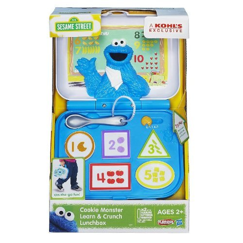 1 X Playskool Sesame Street Cookie Monster Learn & Crunch Lunchbox by Hasbro - 1