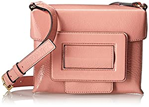 Orla Kiely Patent Leather Fairfield Cross Body,Shell Pink,One Size