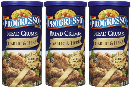 Progresso Bread Crumbs - Garlic & Herb - 15 oz - 3 ct (Progresso Bread Crumbs compare prices)