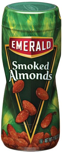Emerald Nuts Smoked Almonds 11 Ounce Canisters Pack of 4