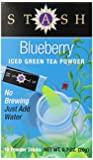 Stash Powdered Green Iced Tea, Blueberry, 10 Count