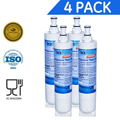 4 Pack - Water Filter by IcePure to Replace Whirlpool, KitchenAid, Sears, Thermador (Water Filter For Kitchenaid compare prices)