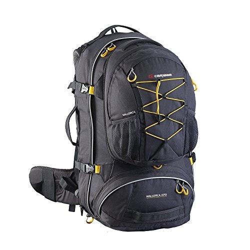 caribee-mallorca-70-travelpack-mit-tagesrucksack-schwarz-grau-charcoal-2013