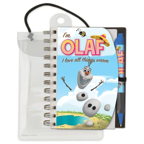 "National Design Disney Frozen Olaf Deluxe Hardcover 4 x 6"" Notebook and Pen Set"