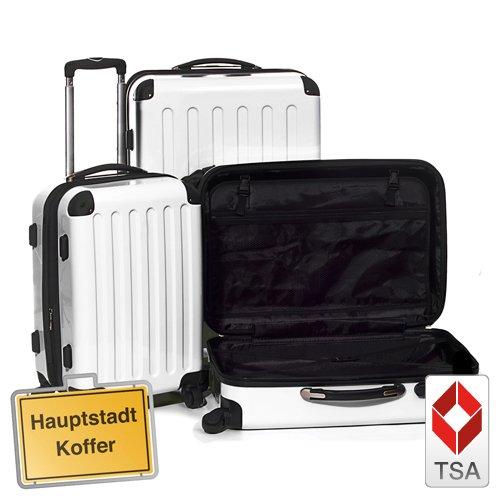 Reisekofferset 3er, Trolleyset, Kofferset, Weiss