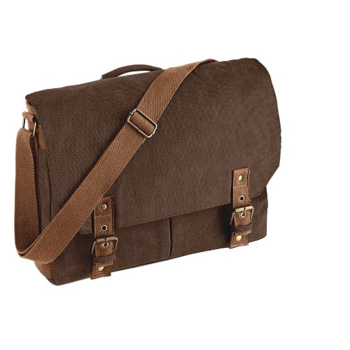 Quadra Vintage Canvas Satchel Messenger Bags (12 Litres)