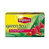 Lipton Green Tea, Red Goji Raspberry 20 ct, Pack of 6 ~ Lipton