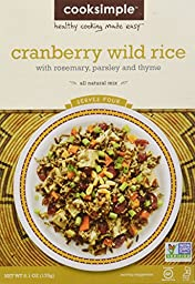 COOKSIMPLE Cranberry Wild Rice Mix, 6.1 Ounce