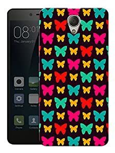 """Humor Gang Butterfly And Butterflies Pattern Printed Designer Mobile Back Cover For """"Xiaomi Redmi Note 2"""" (3D, Matte, Premium Quality Snap On Case)"""