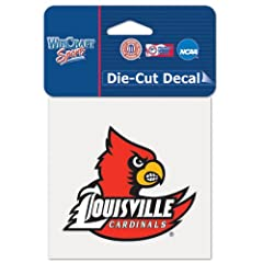 Buy Louisville Cardinals Official NCAA 4x4 Die Cut Car Decal by Wincraft by WinCraft