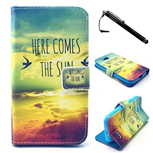 LG L90 Case, LG Optimus L90 Case, Clouds TPU Leather Flip Wallet Protective Soft Skin Case Magnetic Clasp Dust plug Stylus for LG L90 (Built-in Credit Card/ID Card Slot)