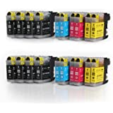 Multipack - 20 compatible XL Ink cartridges BROTHER LC-123 BK/C/M/Y avec puce Brother DCP-J752DW ; MFC-J870DW / J6920DW / J4110 DW /J4410 DW / J4510 DW / J4610 DW / J4710 DW