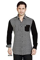 Black Jacquard Dobby Cotton Shirt