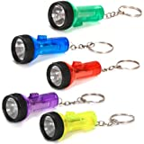 Plastic Large Beam Flashlight Key Chains (1 dz)