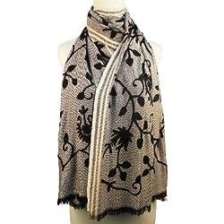 Vozaf Women's Viscose Shawls - Grey And Black